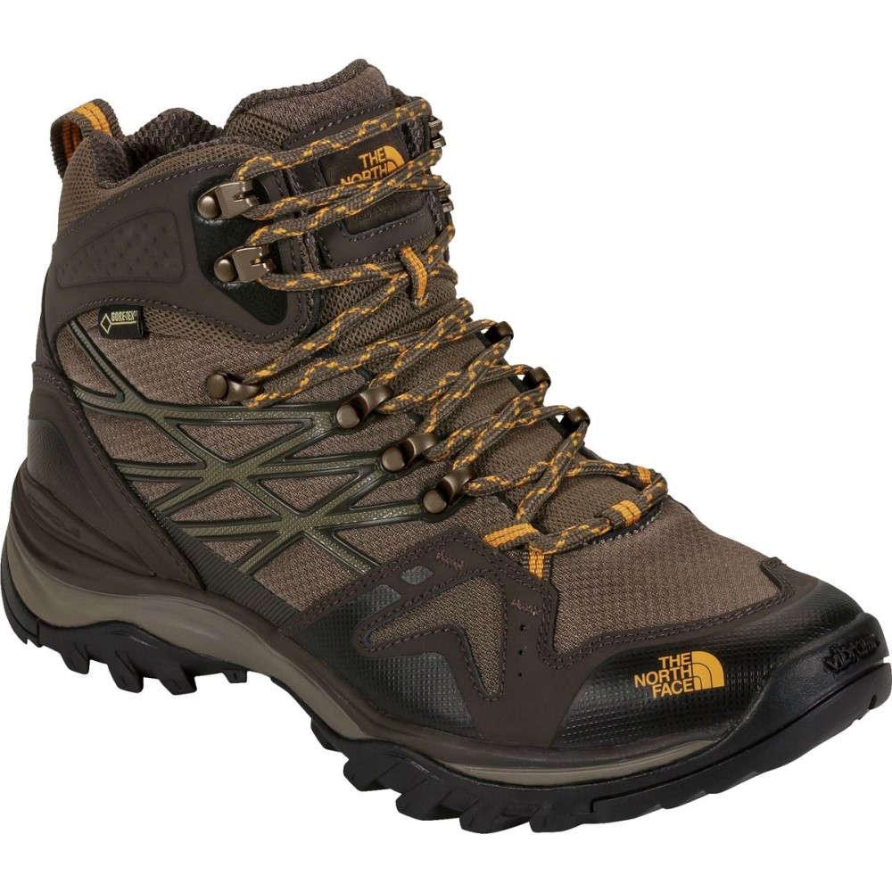 ザ ノースフェイス メンズ ハイキング・登山 シューズ・靴【Hedgehog Fastpack Mid GTX Hiking Boots】Shroom Brown/Brushfire Orange