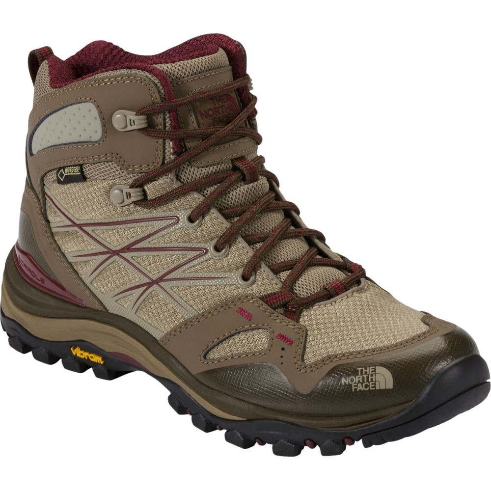 ザ ノースフェイス レディース ハイキング・登山 シューズ・靴【Hedgehog Fastpack Mid GTX Hiking Boot】Dune Beige/Deep Garnet Red