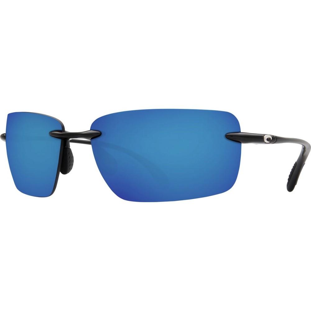 コスタ レディース メガネ・サングラス【Gulf Shore Polarized 580P Sunglasses】Shiny Black Blue Mirror 580p