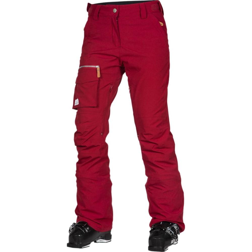 ウェアーカラー レディース スキー・スノーボード ボトムス・パンツ【Slant Pant】Burgundy