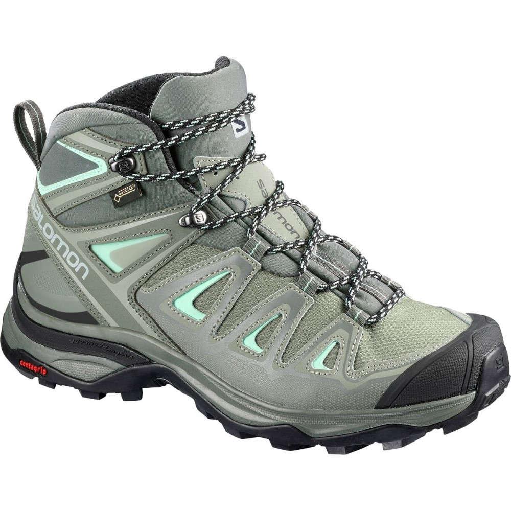 サロモン レディース ハイキング・登山 シューズ・靴【X Ultra Mid 3 GTX Hiking Boot】Shadow/Castor Gray/Beach Glass