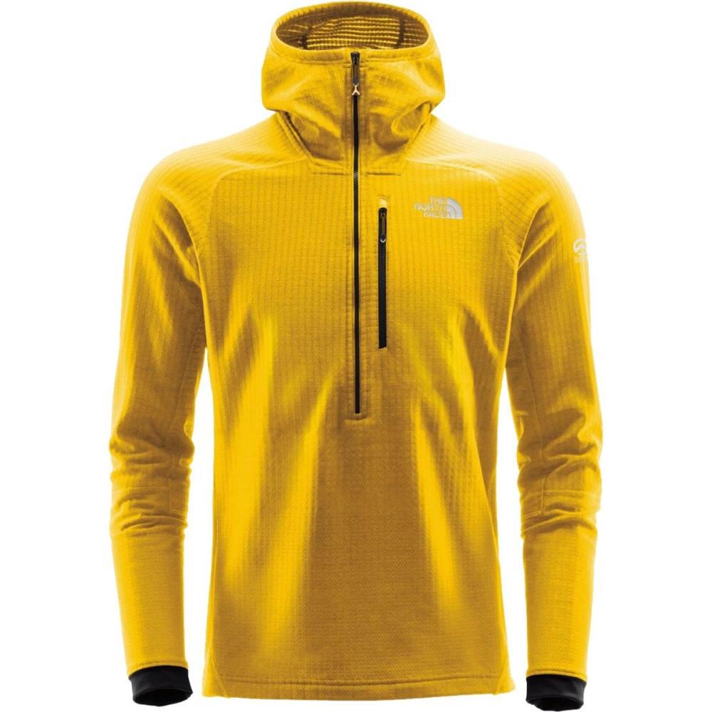 ザ ノースフェイス メンズ トップス フリース【Summit L2 FuseForm Grid Fleece Hooded 1/2 - Zip Jackets】Canary Yellow