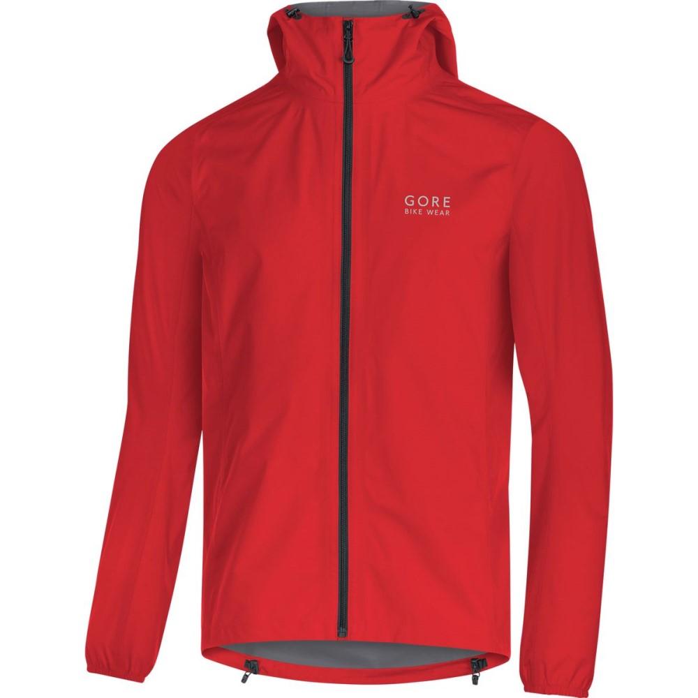 ゴアバイクウェア メンズ 自転車 アウター【Gore - Tex Paclite Jackets】Red