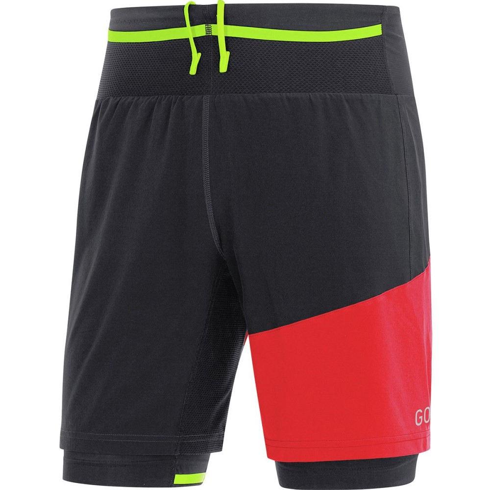 ゴアウェア メンズ フィットネス・トレーニング ボトムス・パンツ【R7 2in1 Shorts】Black/Red
