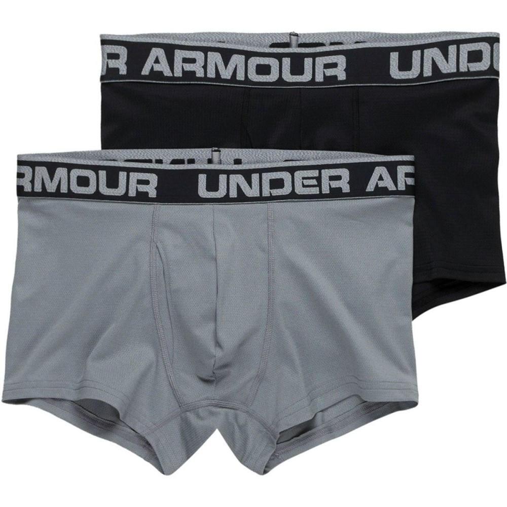 激安超安値 アンダーアーマー メンズ メンズ インナー・下着 ボクサーパンツ【Tech Mesh Mesh 3in 3in Underwear - 2 - Pack】Black/Steel Medium Heather, 下町バームクーヘン:552e3120 --- supercanaltv.zonalivresh.dominiotemporario.com