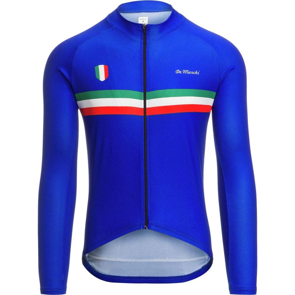 デマルキ メンズ 自転車 トップス【Euro Nationals Light Weight Jerseys - Limited Editions】Blue