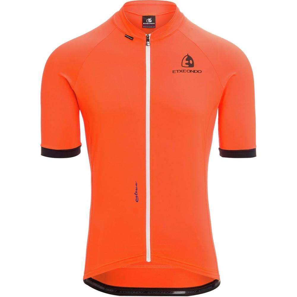 エチェオンド メンズ 自転車 トップス【Entzun Sport Short - Sleeve Jerseys】Orange
