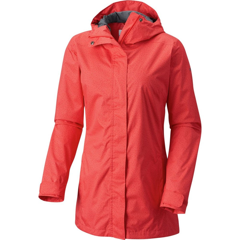 コロンビア レディース アウター レインコート【Splash A Little II Jacket】Red Camellia Geo Lights Print