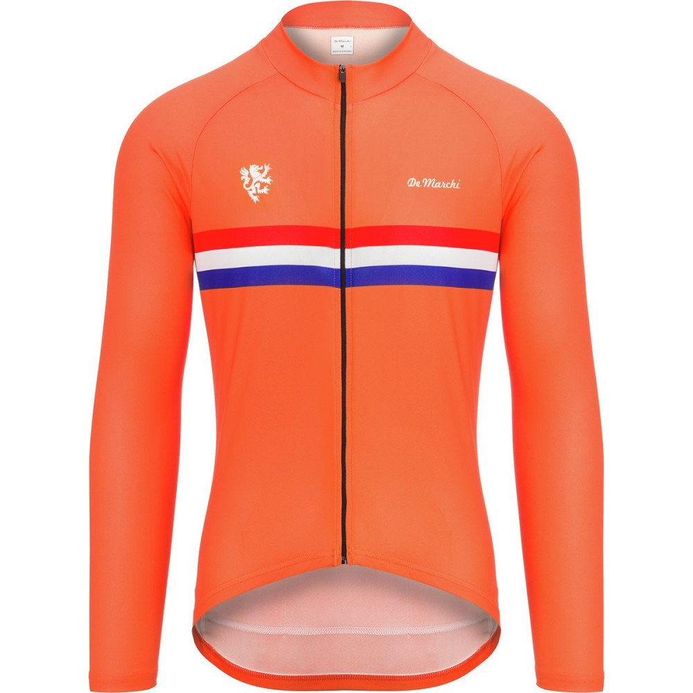 デマルキ メンズ 自転車 トップス【Euro Nationals Light Weight Jerseys - Limited Editions】Orange