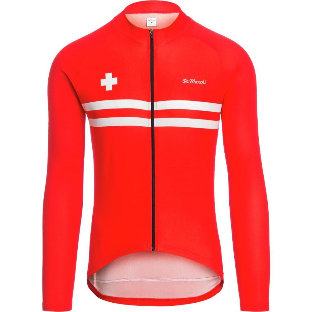 デマルキ メンズ 自転車 トップス【Euro Nationals Light Weight Jerseys - Limited Editions】Red