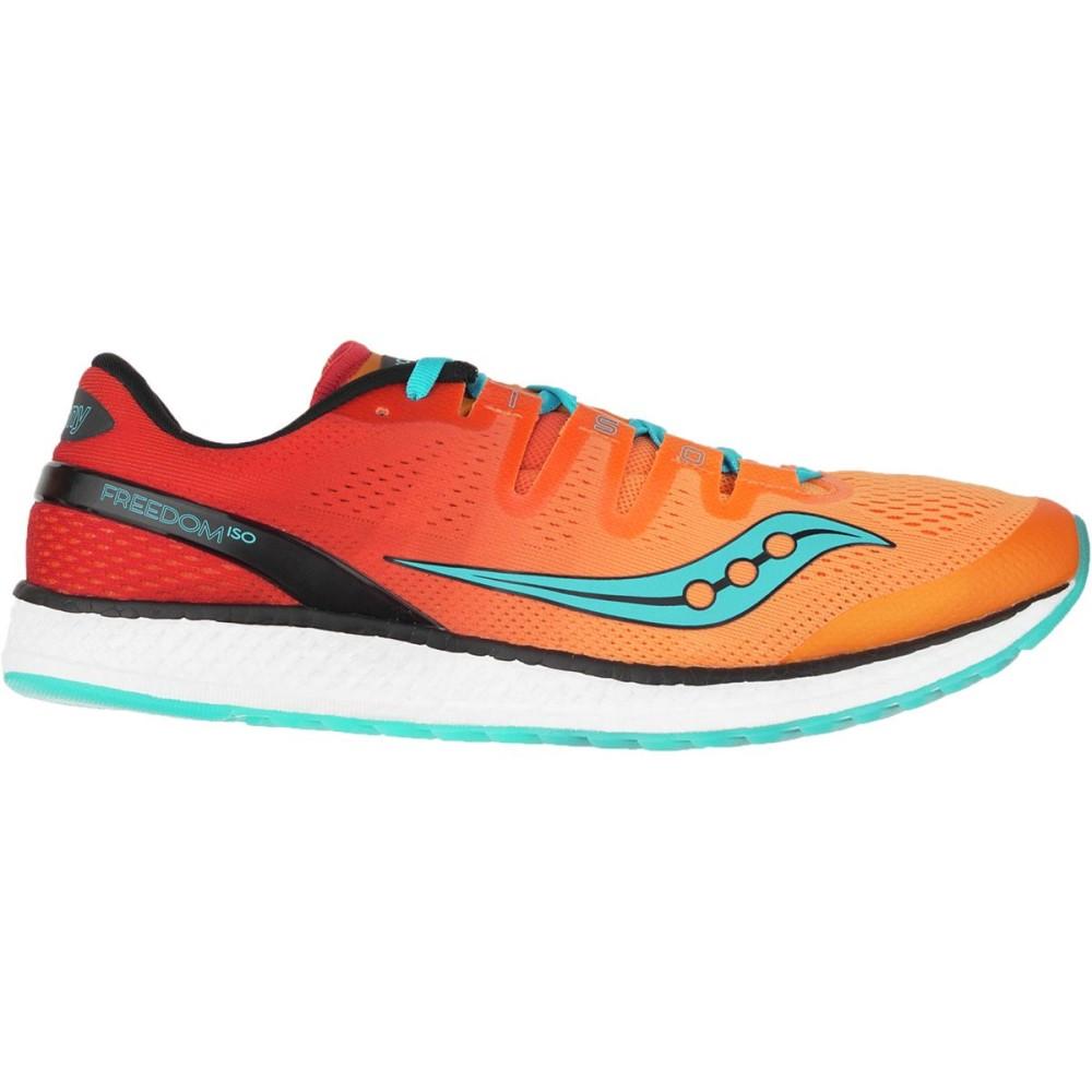 サッカニー メンズ ランニング・ウォーキング シューズ・靴【Freedom ISO Running Shoes】Orange/Red/Teal