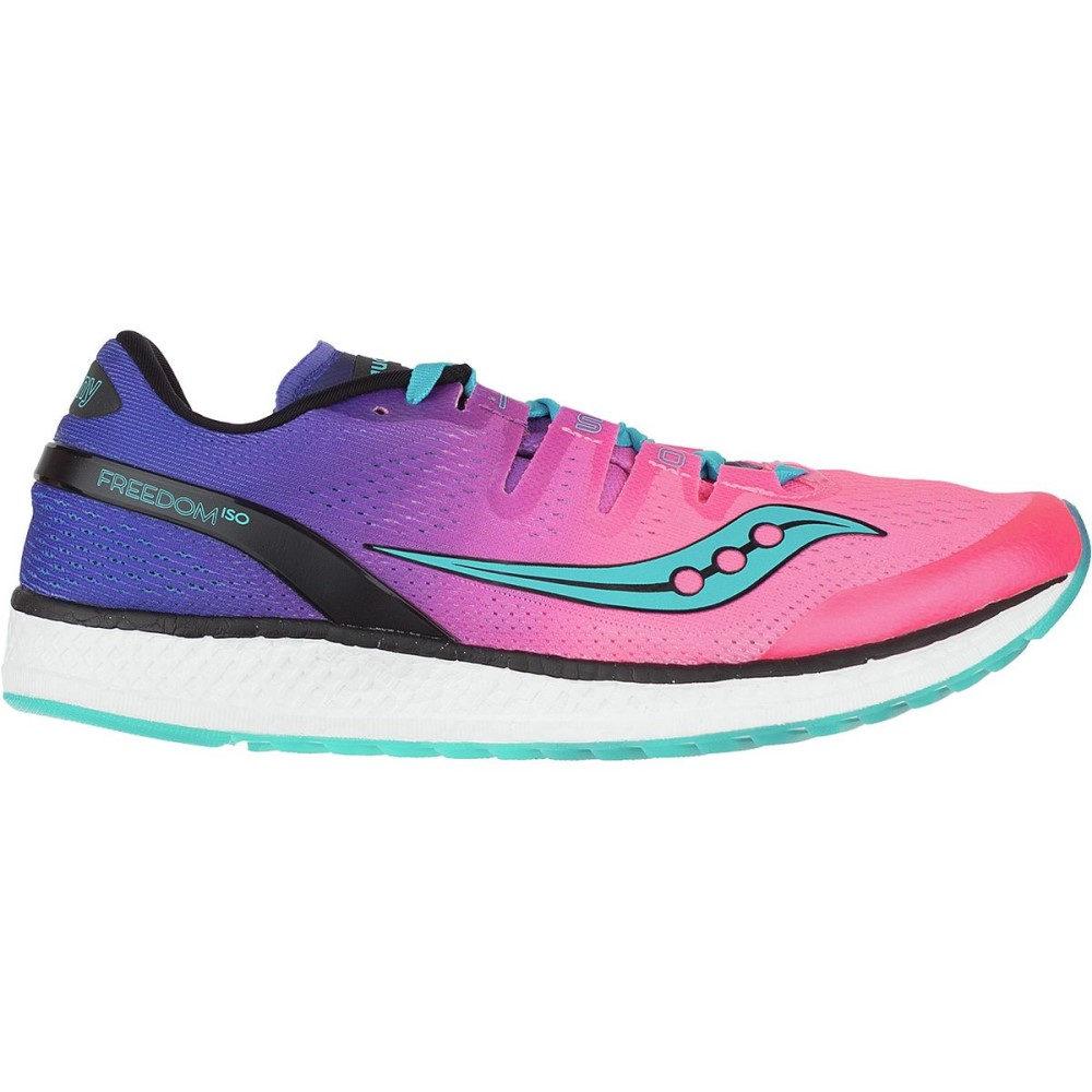 【予約】 サッカニー レディース ランニング・ウォーキング シューズ ISO サッカニー・靴 Running【Freedom ISO Running Shoe】Pink/Purple/Teal, 本格もつ鍋専門店山樹:40e8a800 --- gamedomination.xyz