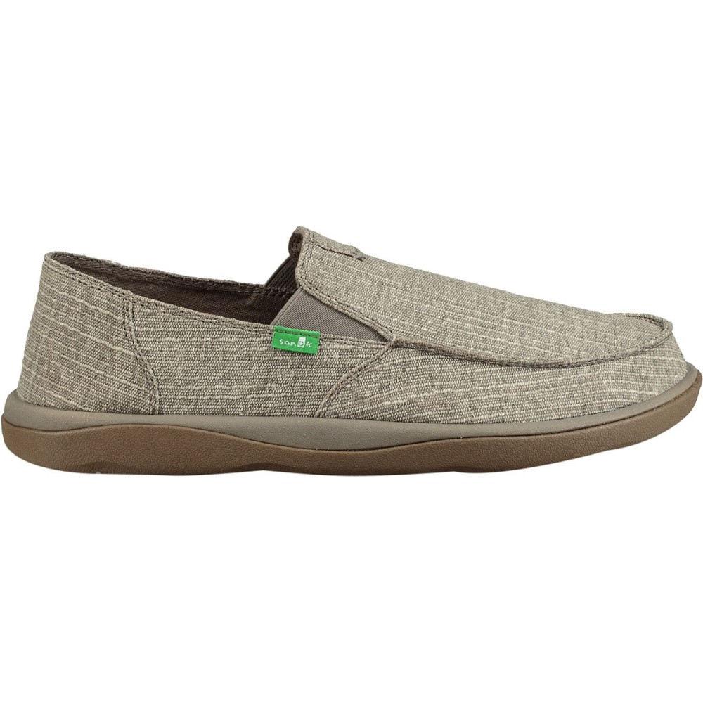 サヌーク メンズ シューズ・靴【Vagabond Tripper Grain Slub Shoes】Grey Slub