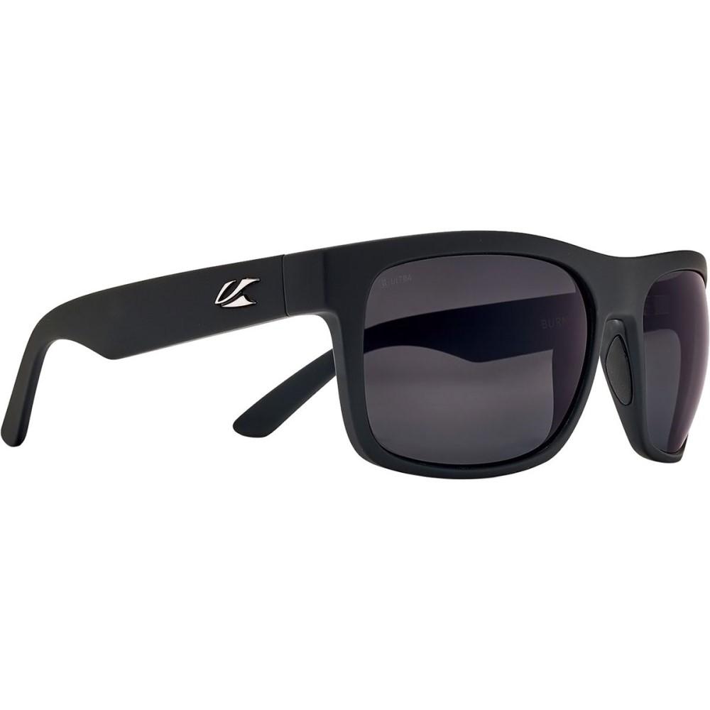 カエノン メンズ スポーツサングラス【Burnet XL Ultra Sunglasses - Polarized】Black Matte Grip/Ultra Grey -Polarized