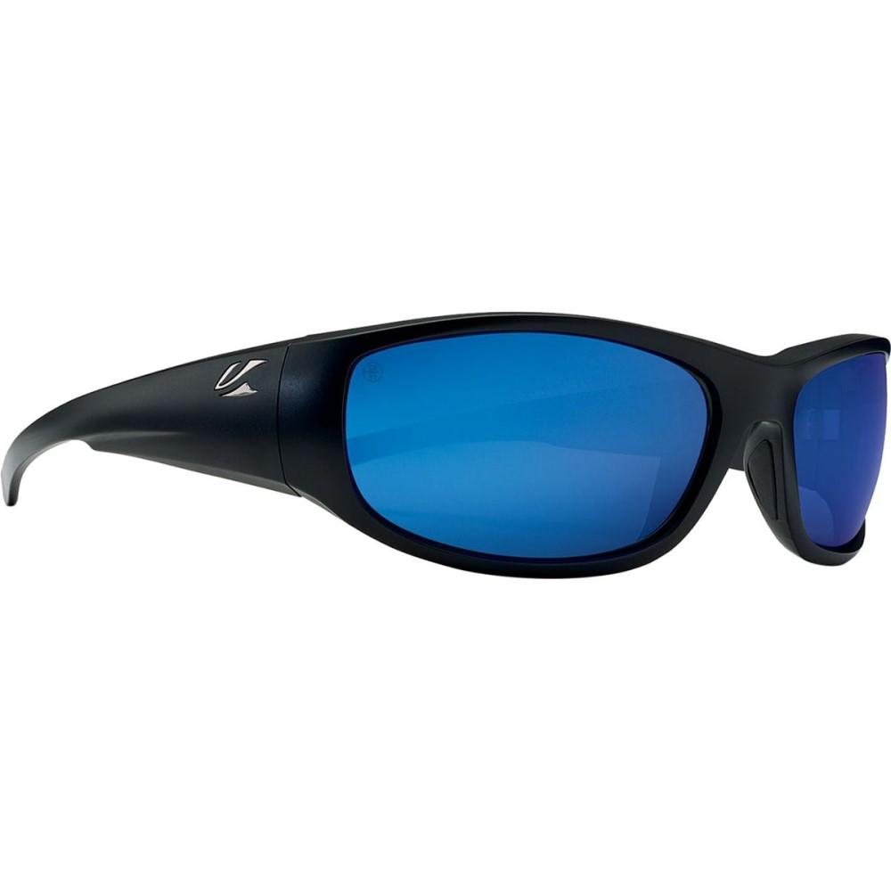 カエノン メンズ スポーツサングラス【Capitola Sunglasses - Polarized】Matte Black/Pacific Blue Mirror