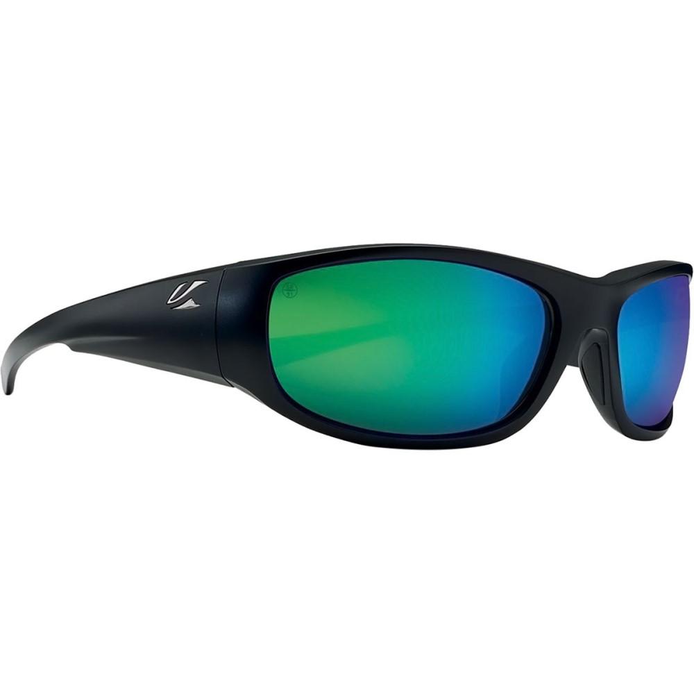 カエノン メンズ スポーツサングラス【Capitola Sunglasses - Polarized】Matte Black/Coastal Green Mirror