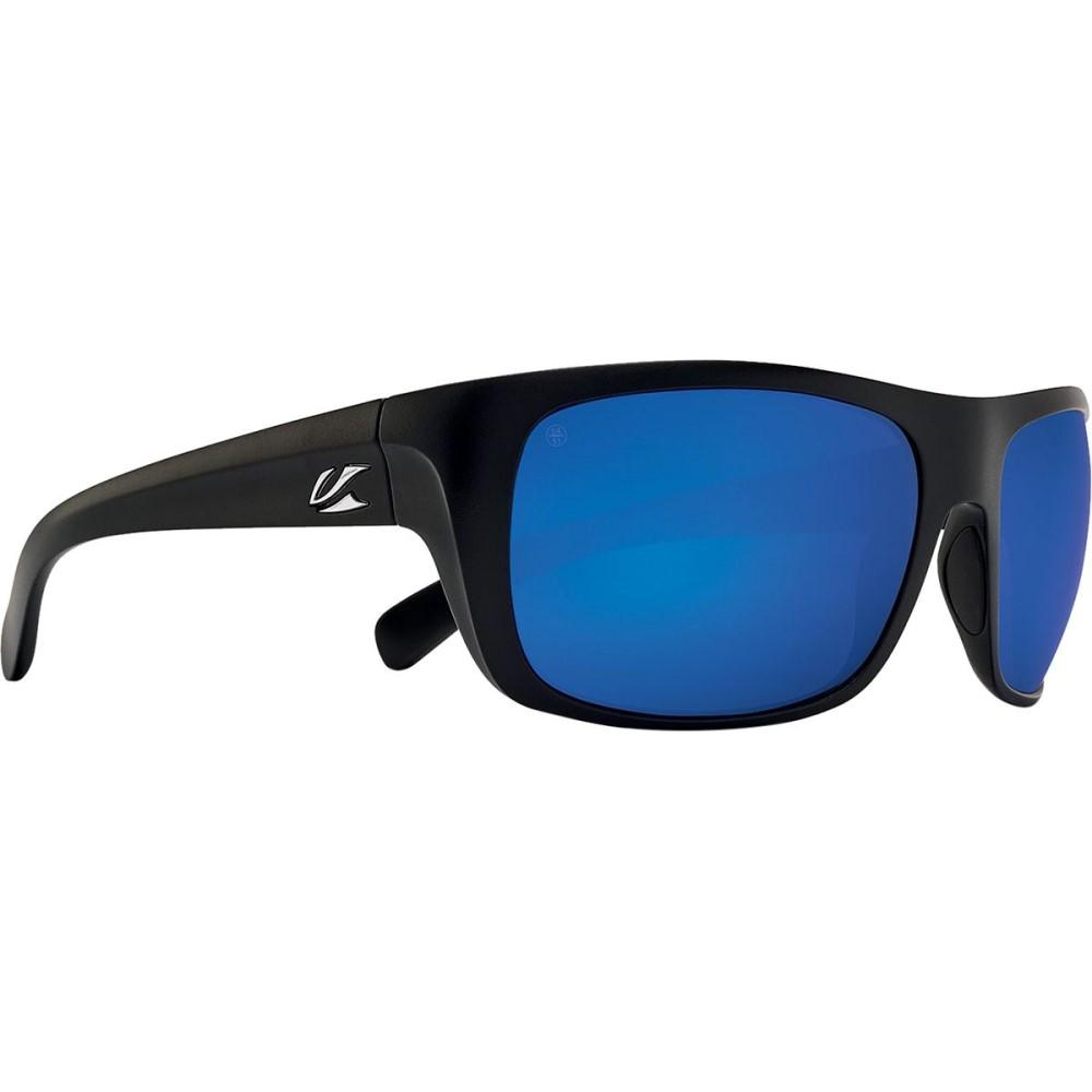 カエノン メンズ スポーツサングラス【Hodges Sunglasses - Polarized】Matte Black/Pacific Blue Mirror
