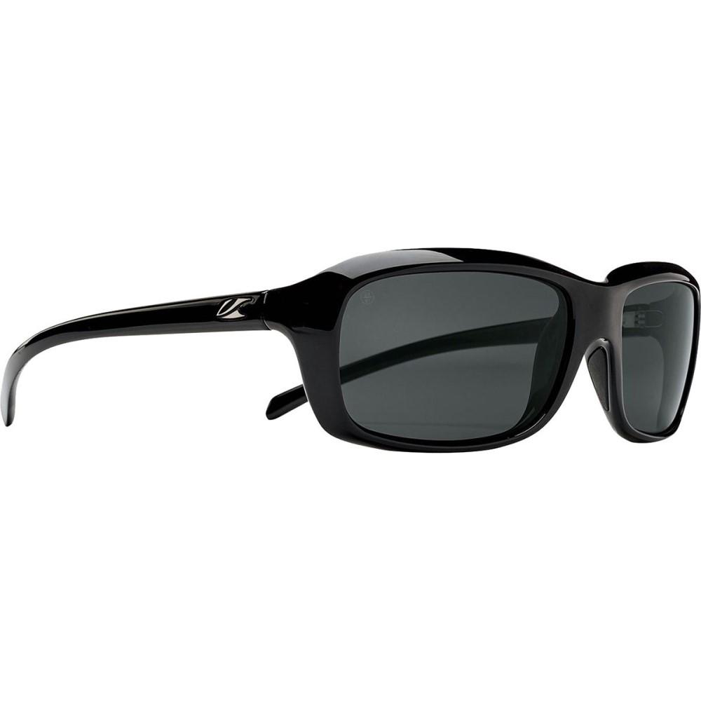 カエノン レディース スポーツサングラス【Monterey Polarized Sunglasses】Black/Grey - Polarized