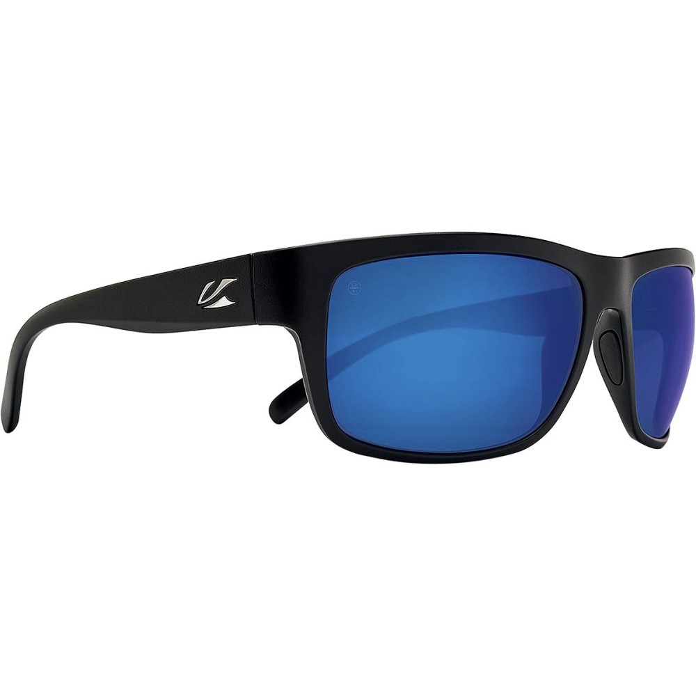 カエノン メンズ スポーツサングラス【Redding Sunglasses - Polarized】Matte Black/Pacific Blue Mirror