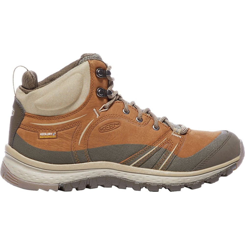 キーン レディース ハイキング・登山 シューズ・靴【Terradora Leather Mid Waterproof Boot】Timber/Cornstalk