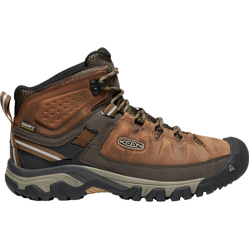 キーン メンズ ハイキング・登山 シューズ・靴【Targhee III Mid Leather Waterproof Hiking Boots】Big Ben/Golden Brown
