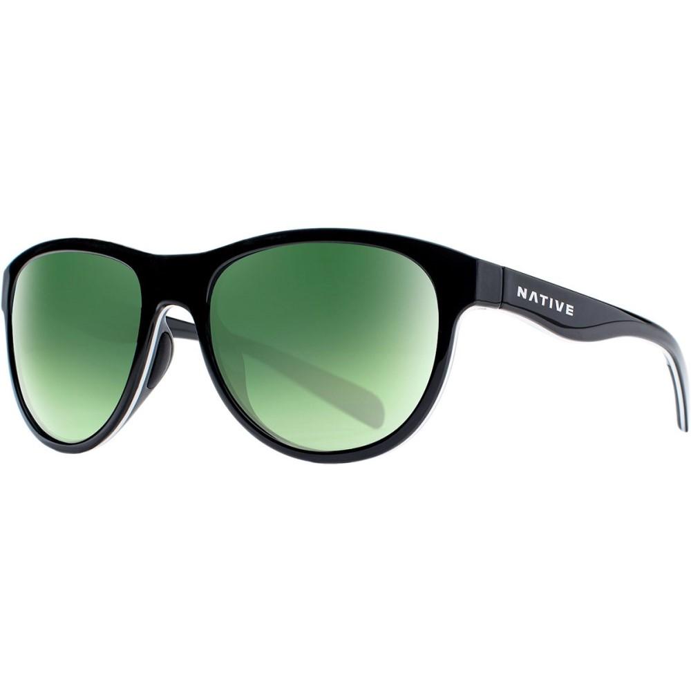 ネイティブアイウェア レディース メガネ・サングラス【Acadia Sunglasses - Polarized】Matte Black/Dark Gray-Green Reflex