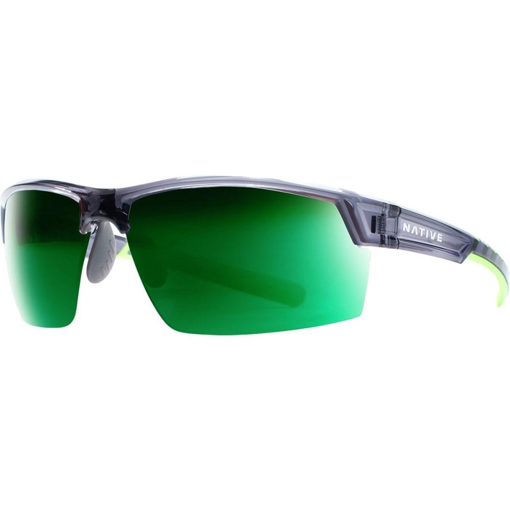 ネイティブアイウェア レディース スポーツサングラス【Catamount Sunglasses - Polarized】Dark Crystal/Gray-Green Reflex