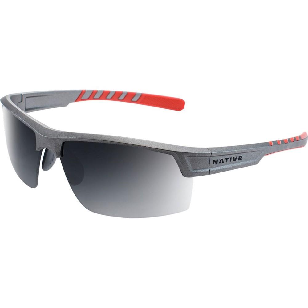 ネイティブアイウェア レディース スポーツサングラス【Catamount Sunglasses - Polarized】Platinum-Gray