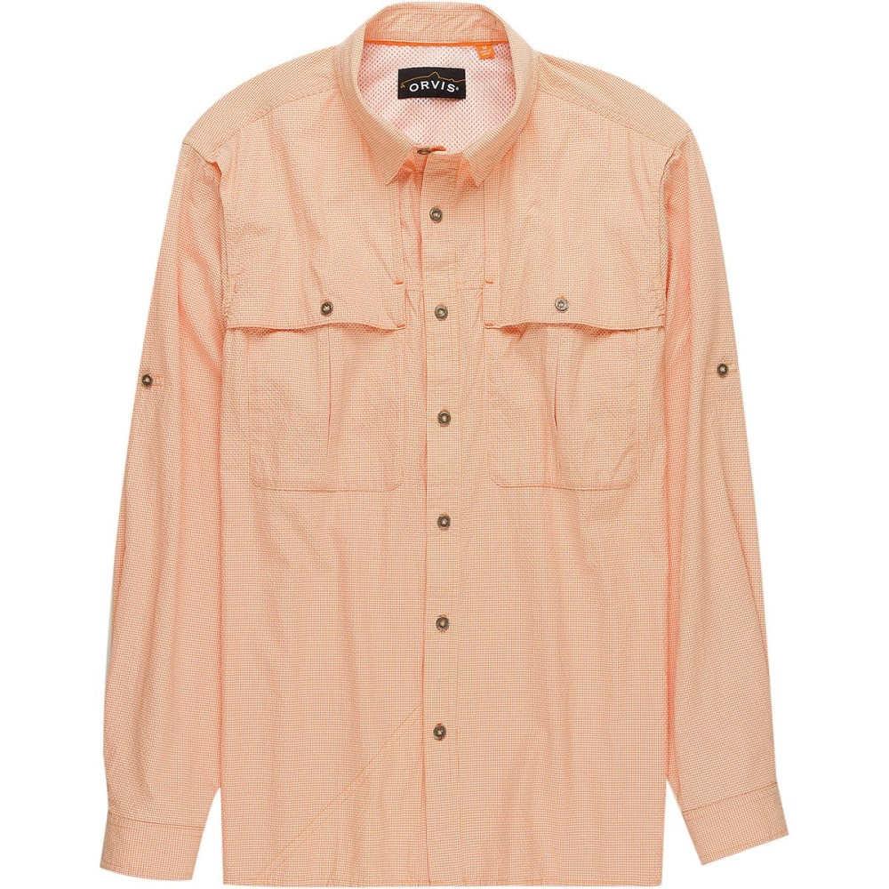 オービス メンズ トップス【Open - Air Caster Long - Sleeve Shirts】Pale Orange