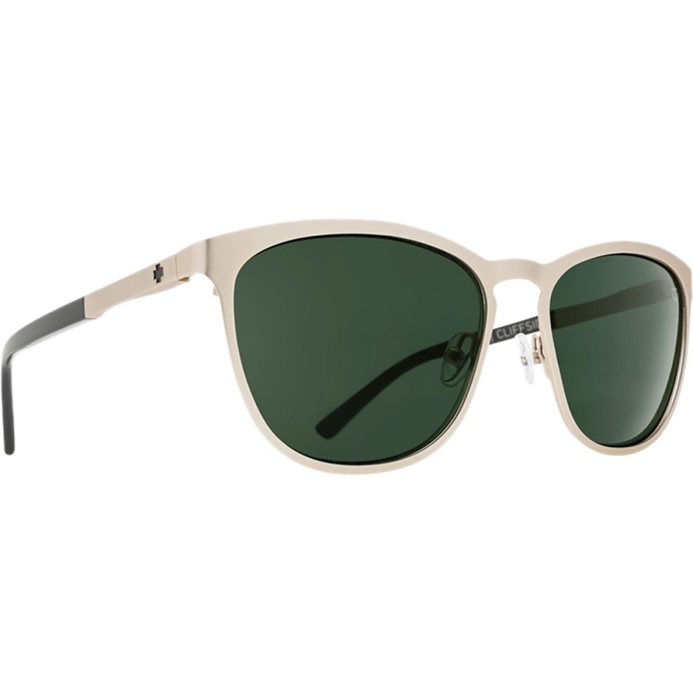 スパイ レディース メガネ・サングラス【Cliffside Sunglasses】Matte Gold/Gloss Black - Happy Gray Green