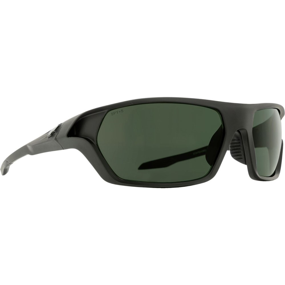 スパイ メンズ スポーツサングラス【Quanta 2 Polarized Sunglasses】Matte Black Ansi Rx - Happy Gray Green Polar
