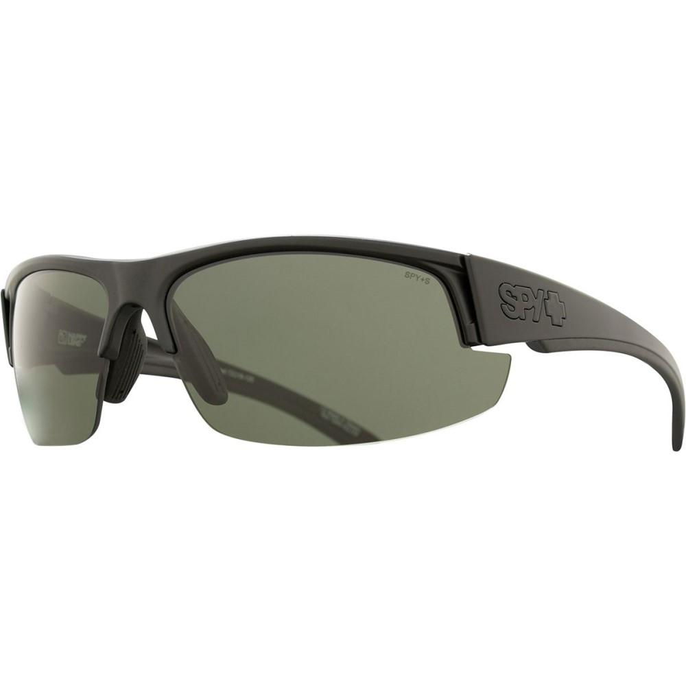 スパイ メンズ スポーツサングラス【Sprinter Polarized Sunglasses】Matte Black Ansi Rx - Happy Gray Green Polar