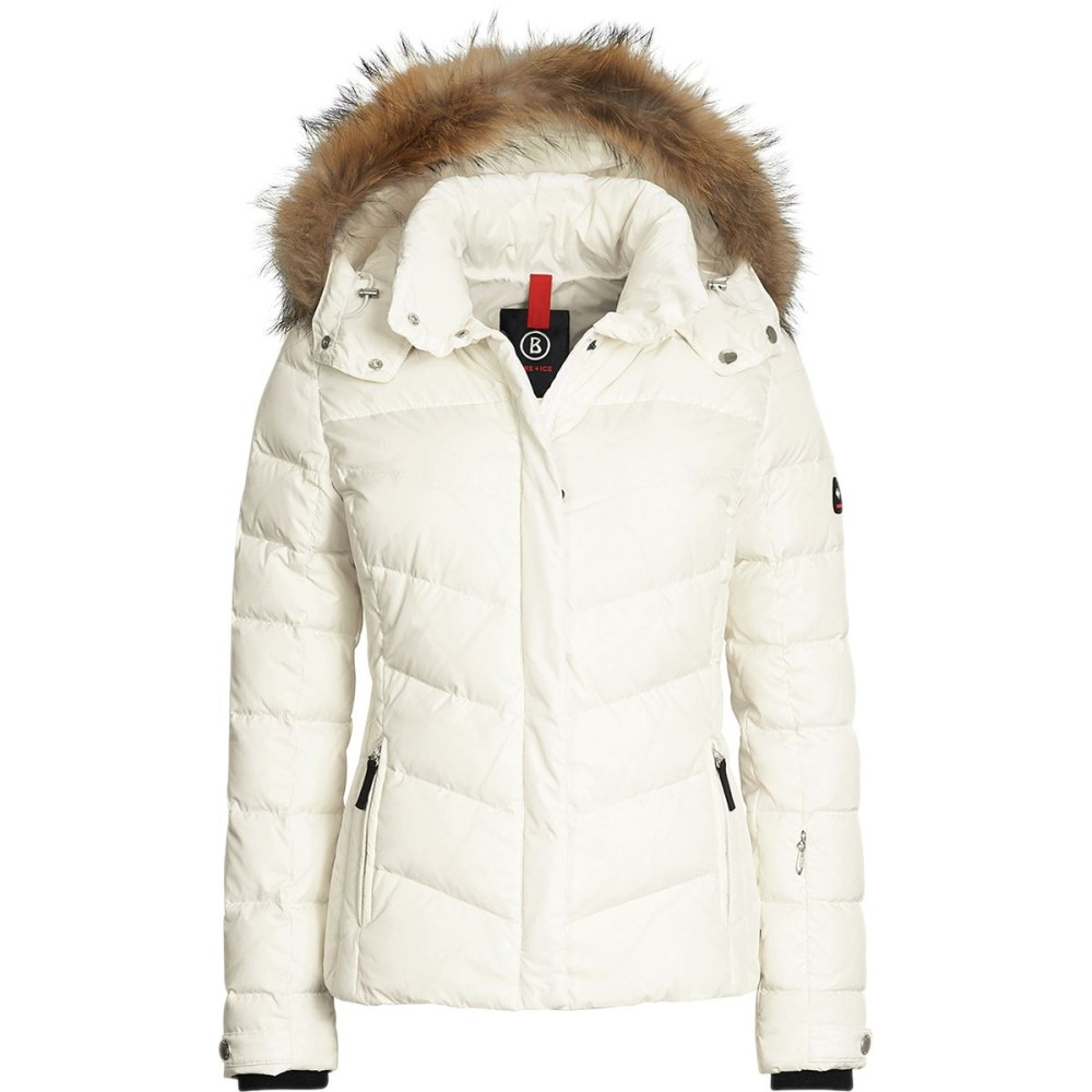 世界有名な ボグナー レディース スキー・スノーボード アウター【Bogner - Fire+Ice Sally Jacket with Fur】Marble White, Dimension-3 144b9b50