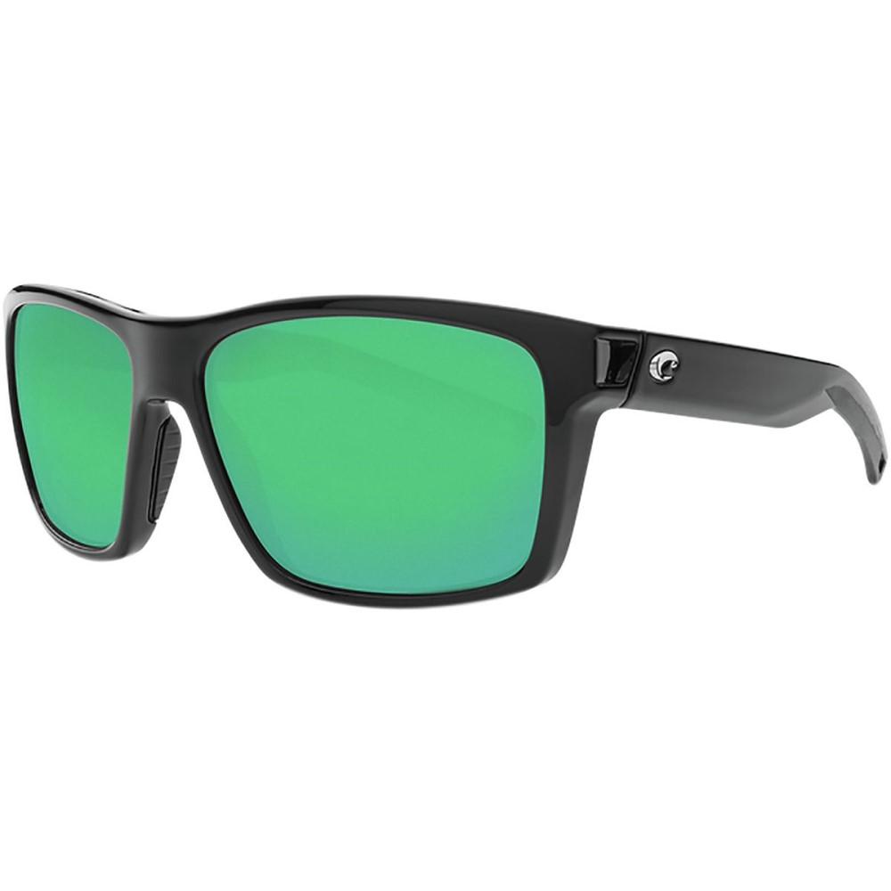 コスタ レディース スポーツサングラス【Slack Tide Polarized 580G Sunglasses】Green Mirror g/Shiny Black Frame