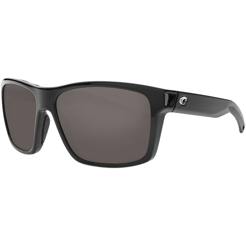 コスタ レディース スポーツサングラス【Slack Tide Polarized 580G Sunglasses】Gray Silver Mirror g/Shiny Black Frame
