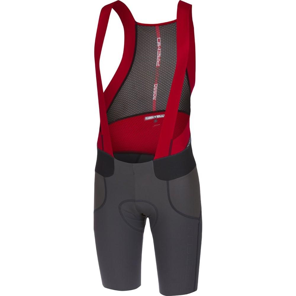 カステリ メンズ 自転車 ボトムス・パンツ【Premio Bib Shorts】Anthracite