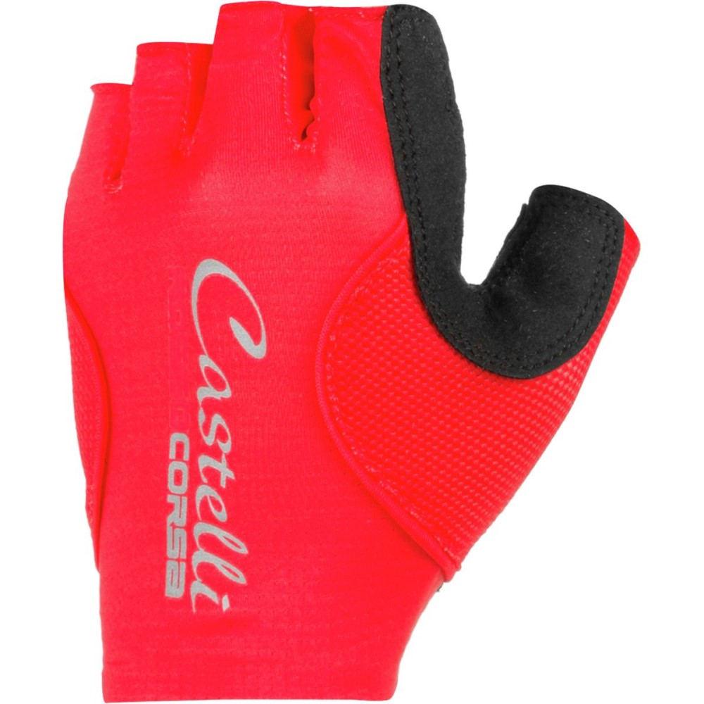 カステリ レディース 自転車 グローブ【Rosso Corsa Pave Glove】Red