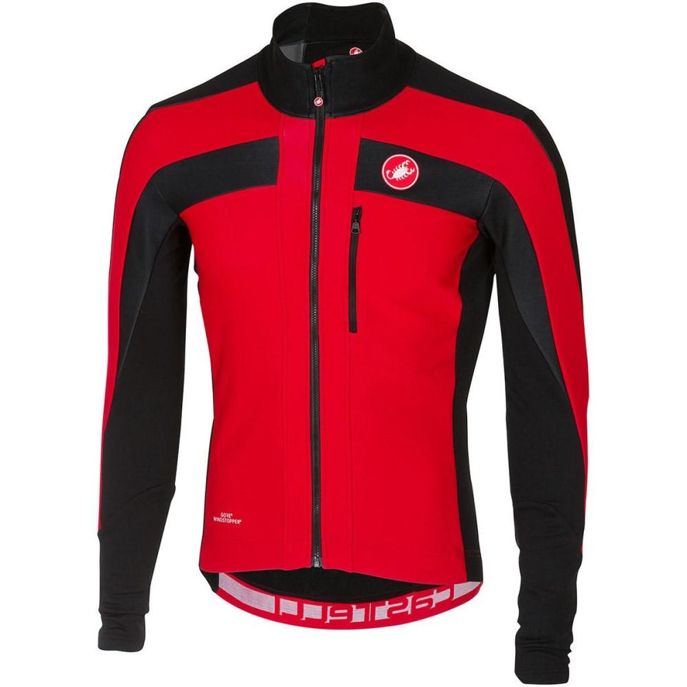 カステリ メンズ 自転車 トップス【Trasparente 4 Long - Sleeve Jerseys】Red/Black