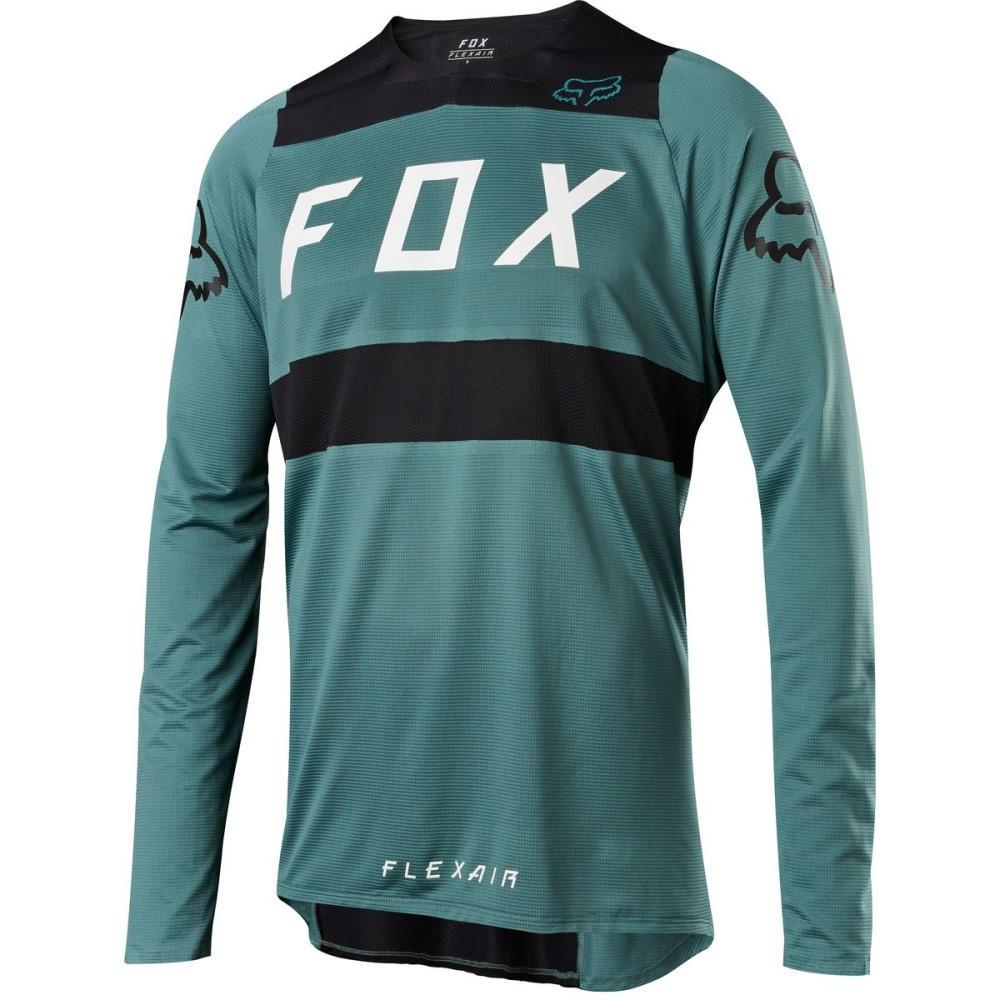 フォックス レーシング メンズ 自転車 トップス【Flexair DH Jerseys】Green/Black