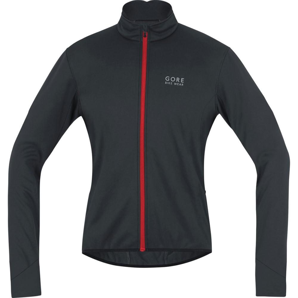ゴアバイクウェア メンズ 自転車 アウター【Power 2.0 Windstopper Softshell Jackets】Black/Red