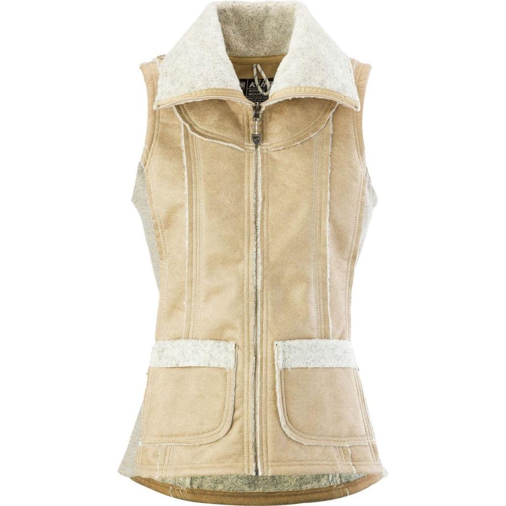 キュール レディース トップス ベスト・ジレ【Dani Sherpa Vest】Almond