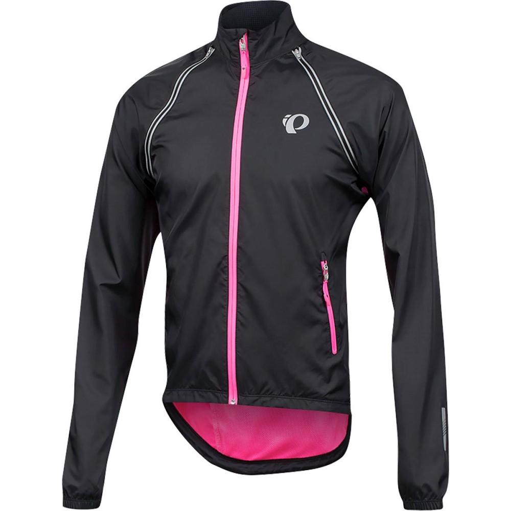 パールイズミ メンズ 自転車 アウター【ELITE Barrier Convertible Jackets】Black/Screaming Pink