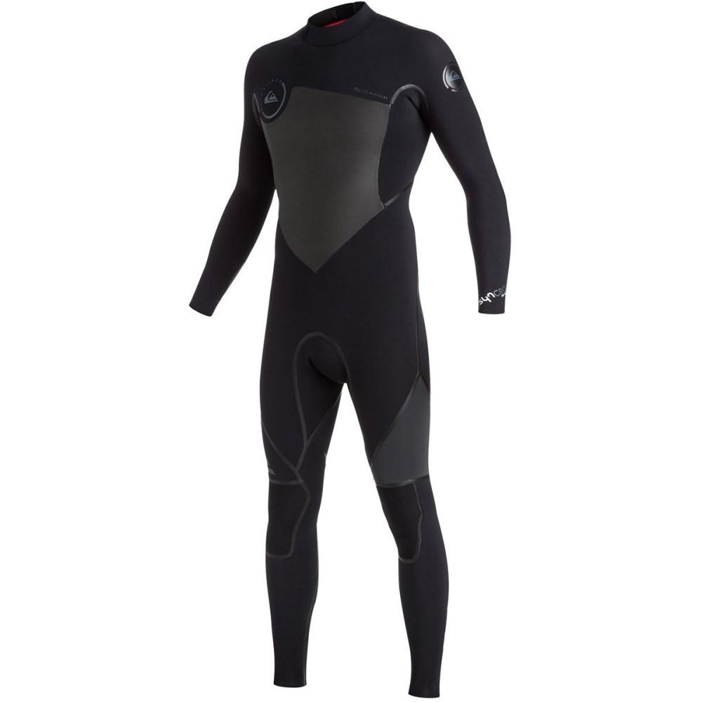 クイックシルバー メンズ 水着・ビーチウェア ウェットスーツ【3/2 Syncro Plus Back Zip Wetsuits】Black