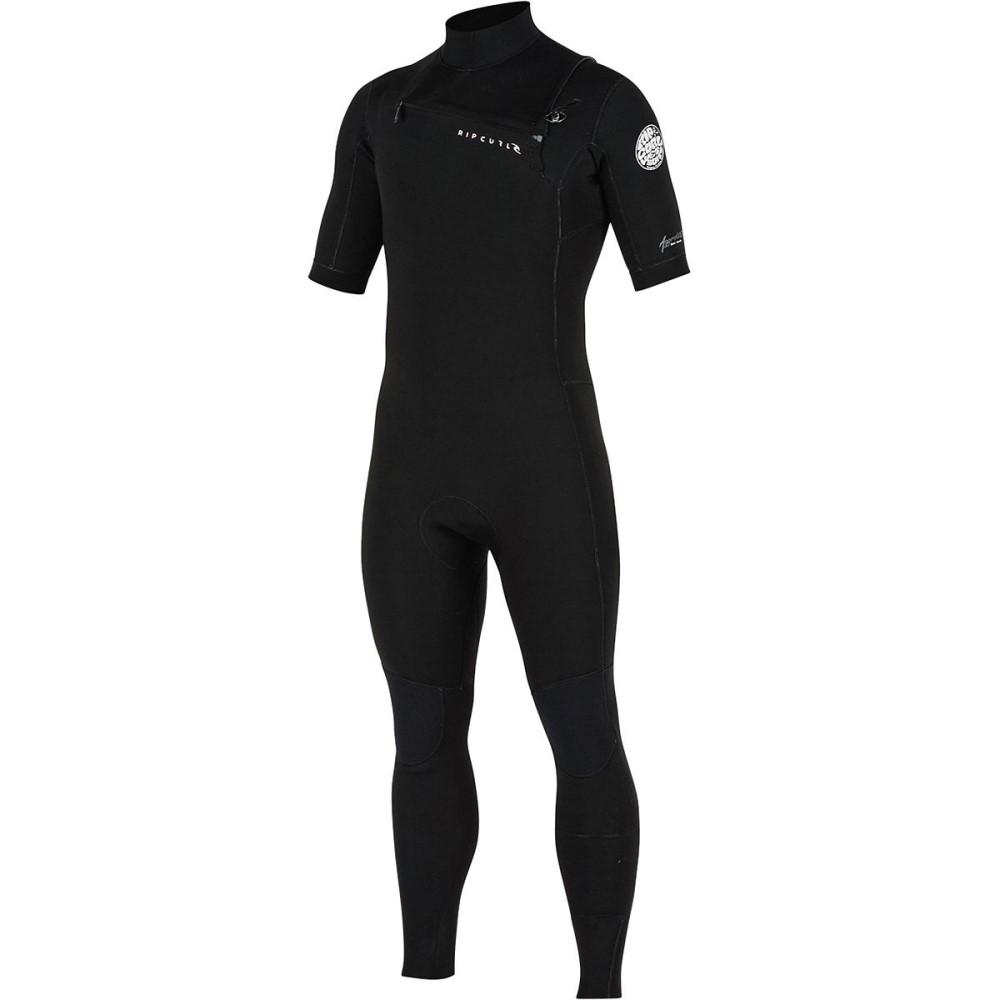 リップカール レディース 水着・ビーチウェア ウェットスーツ【Aggrolite Short - Sleeve Full Chest Zip Wetsuits】Black