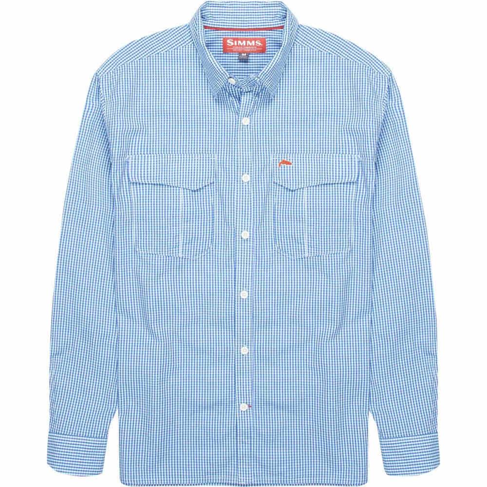 シムズ メンズ トップス シャツ【Transit Long - Sleeve Shirts】Oxford Blue Plaid