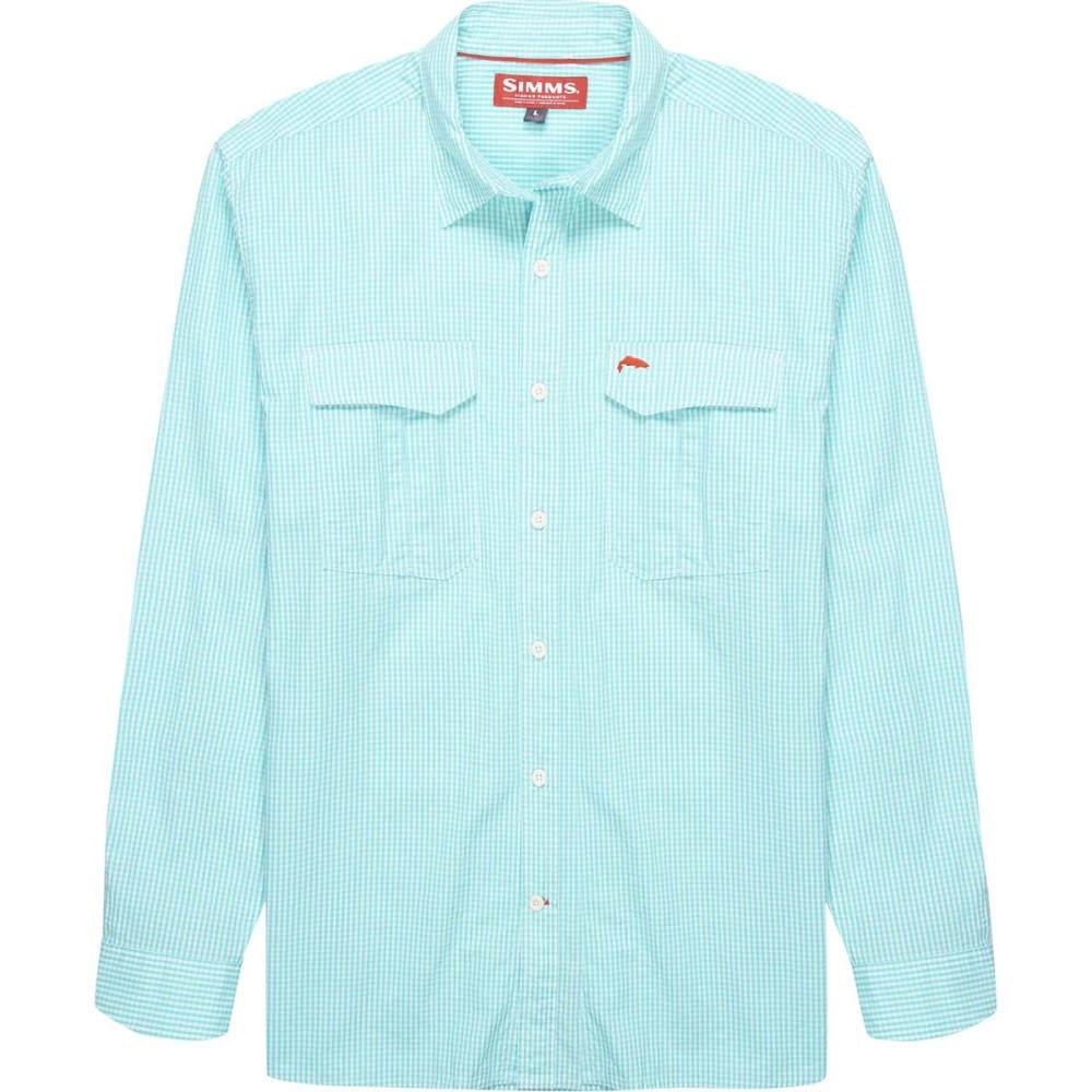 シムズ メンズ トップス シャツ【Transit Long - Sleeve Shirts】Teal Plaid