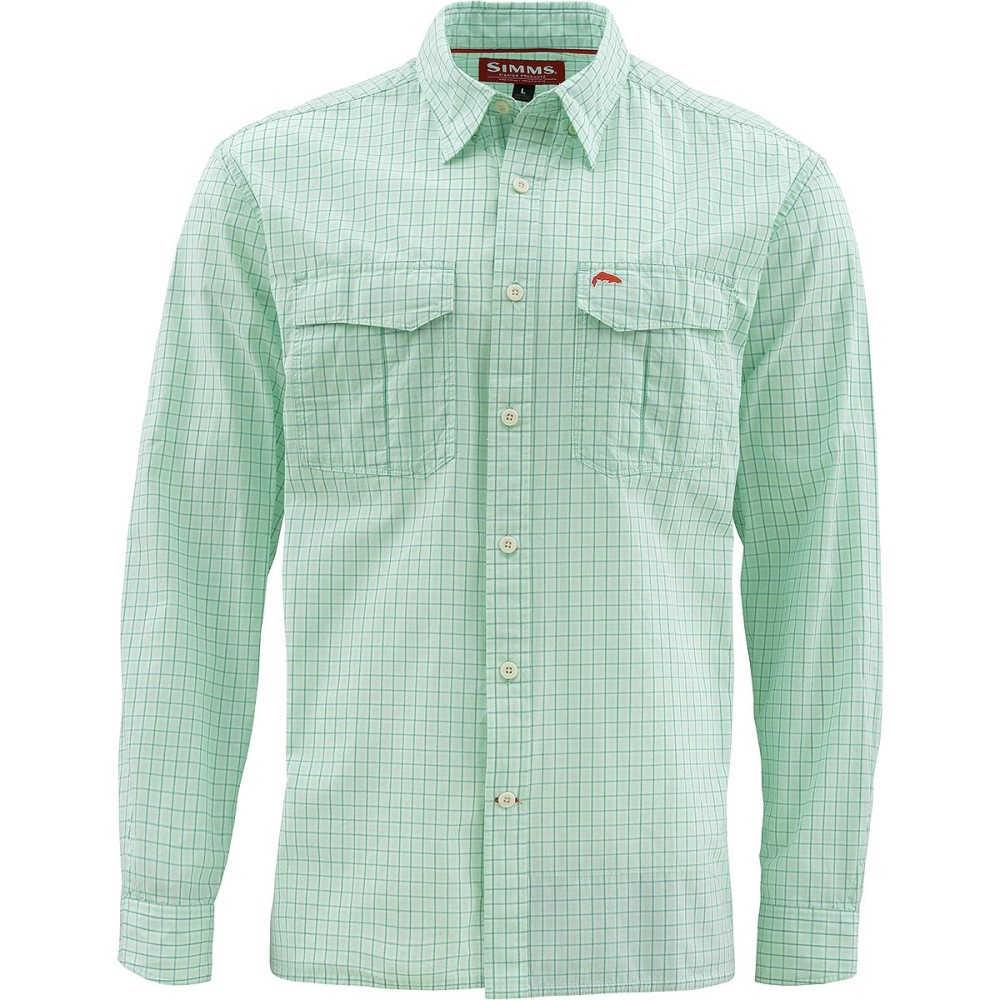 シムズ メンズ トップス シャツ【Transit Long - Sleeve Shirts】Wintergreen Plaid