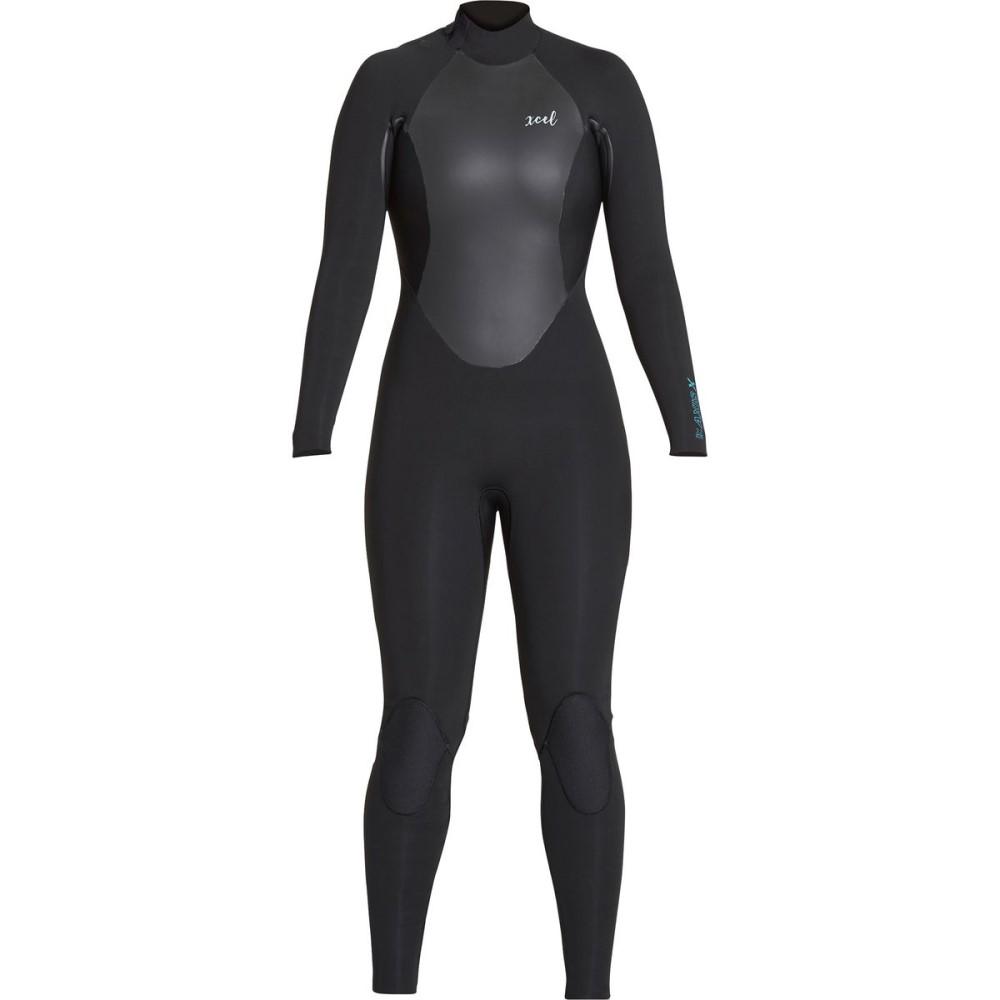 エクセルハワイ レディース 水着・ビーチウェア ウェットスーツ【AXIS X 4/3 Back - Zip Wetsuit】Black