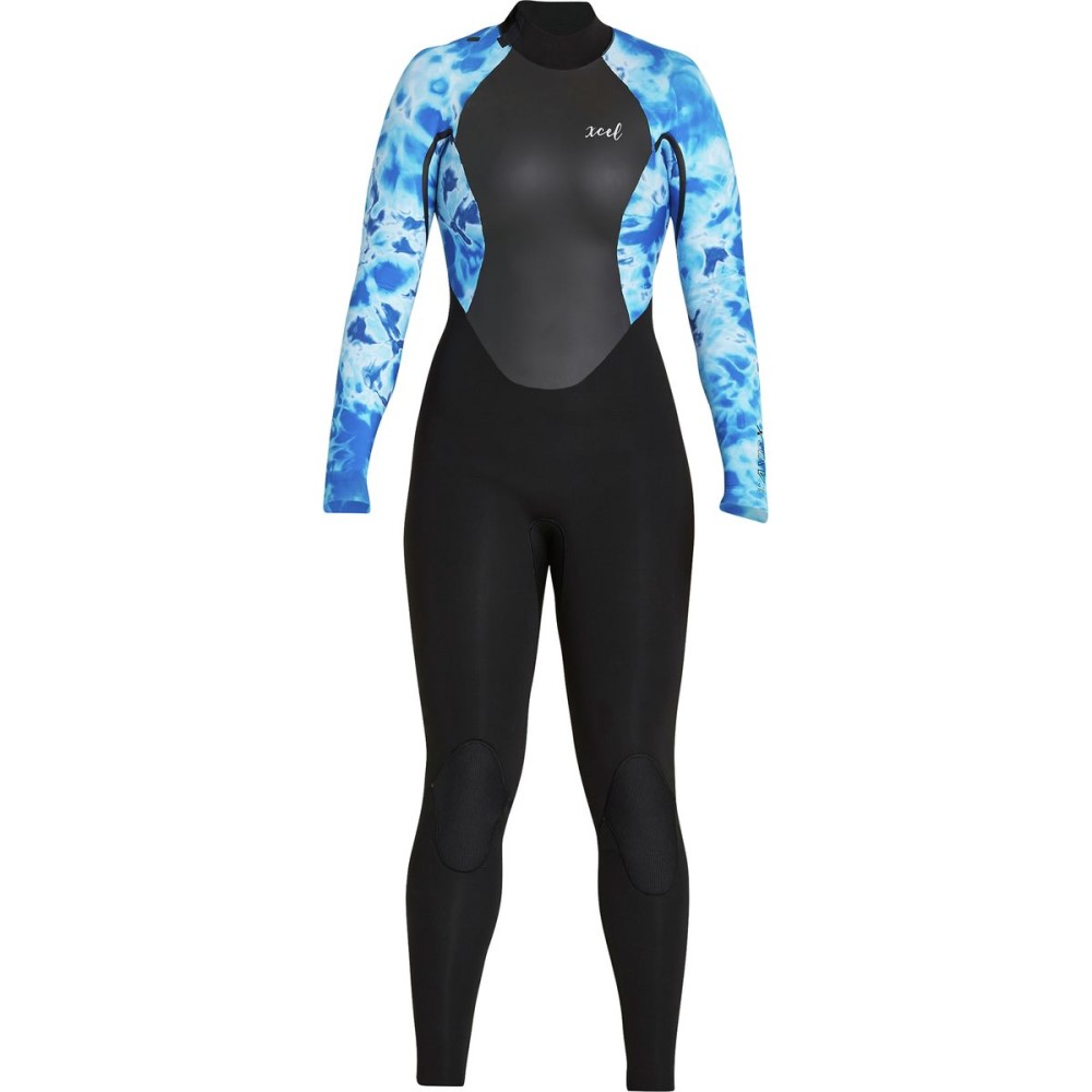 エクセルハワイ レディース 水着・ビーチウェア ウェットスーツ【AXIS X 4/3 Back - Zip Wetsuit】Black Blue Camo