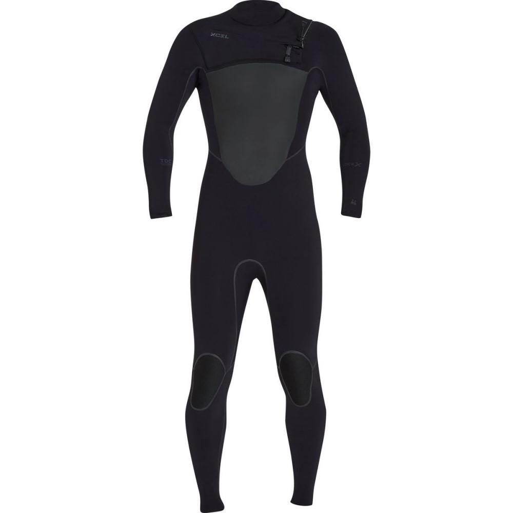 エクセルハワイ メンズ 水着・ビーチウェア ウェットスーツ【Hawaii Drylock X 3/2mm Full Wetsuits】Black/Black Logos